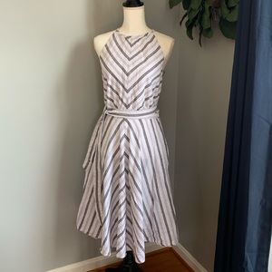 Halter dress linen and cotton